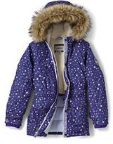 Lands' End Girls Expedition Printed Parka-Dark Sapphire