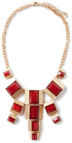 Lori's Shoes Square Gem Statement Necklace