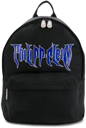 Philipp Plein Printed Logo Backpack