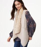 LOFT Reversible Faux Fur Vest