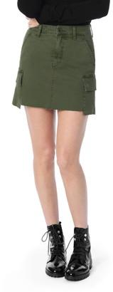 Joe's Jeans Military High Waisted Twill Mini Skirt