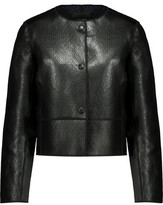 Maje Bibiane Textured-Leather Jacket