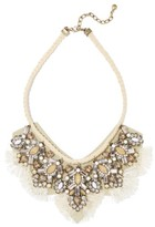 BaubleBar Women's Montana Crystal Tassel Bib Necklace