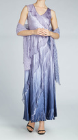 Komarov 2pc Long Gown/Shawl Set