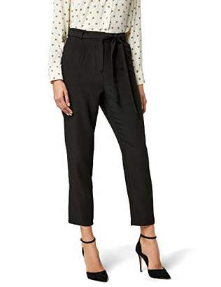 F&F Pieces NOS Women's Pcalbia Hw Pants Ff Trouser,(Size: X-Large)
