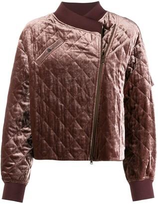 Brunello Cucinelli asymmetric bomber jacket