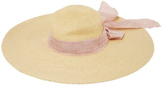 Forever New Samantha Floppy Bow Hat - Natural/ Blush - 00