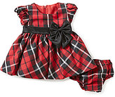 Bonnie Jean Bonnie Baby Baby Girls Newborn-24 Months Christmas Plaid Taffeta Dress