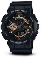 G-Shock Black & Rose Gold Tone Watch, 55mm