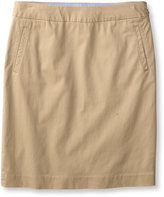 L.L. Bean Women's Washed Chinos, Skirt