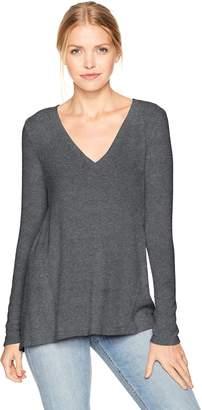Michael Stars Women's Madison Brushed Jersey V-Neck Long Sleeve Top
