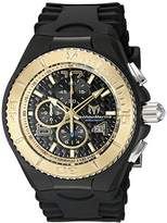 Technomarine Men's Quartz Watch with Black Dial Chronograph Display and Black Silicone Strap TM-115111