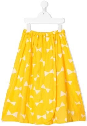 Bobo Choses Bow-Print Wrap Skirt