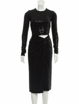 Thumbnail for your product : Michael Kors 2019 Sequined Evening Dress w/ Tags Black