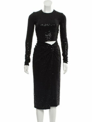 Michael Kors 2019 Sequined Evening Dress w/ Tags Black