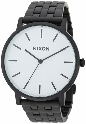 Nixon Men's 'Porter' Quartz Metal and Stainless Steel Watch Color:Black (Model: A10572493-00)