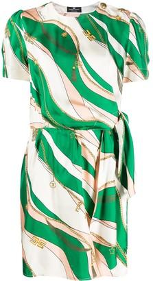Elisabetta Franchi Graphic Print Dress