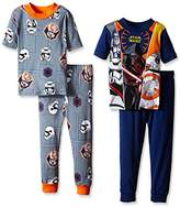 Star Wars Boys Kylo Ren and The Coveted Jedi Tech 4-Piece Pajama Set