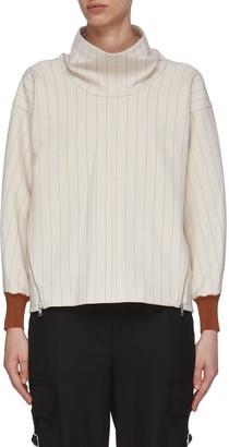 3.1 Phillip Lim Side Zip Cowl Neck Rib Cuff Sweater