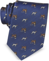 Marina D'Este Dogs Woven Silk Men's Tie