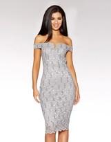 Quiz Lace Bardot Midi Dress