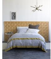 Draper Stripe Ash Bedding