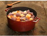 Lava Signature 10-1/2 Qt. Enameled Cast Iron Round Dutch Oven in Cayenne Red