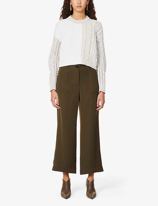 Sportmax Ruta cable-knit cotton-blend knitted jumper
