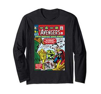 Marvel The Avengers First Issue Comic Cover Long Sleeve T-Shirt