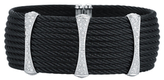 Alor Stainless Steel & 18K Gold Bracelet with Diamonds