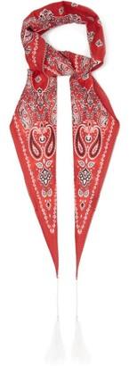 Acne Studios Varana Paisley-print Cotton-blend Poplin Scarf - Womens - Red