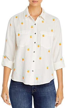 BILLY T Embroidered Button Front Shirt