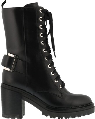 Sergio Rossi Lace-Up Heeled Boots