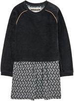 Ikks Graphic dress and velvet sweatshirt