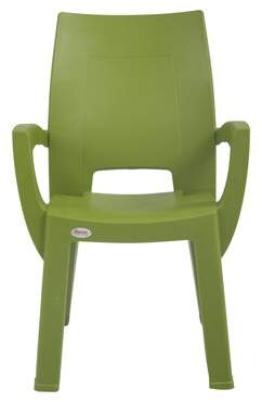 Rockwell Wrought Studio Ara Patio Chair (Set of 2) Wrought Studio Color: Green