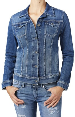 Pepe Jeans Straight Cut Denim Jacket with Pockets