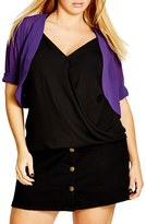 City Chic Plus Size Women's Sheer Chiffon Shrug