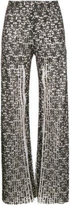 Huishan Zhang Pleated Lace Trousers