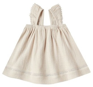 Quincy Mae Ruffled Tube Dress - Natural - 0-3 Months