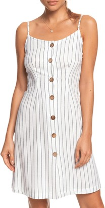 Roxy Sweet About Me Stripe Minidress