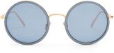 Linda Farrow Round-frame mirrored sunglasses