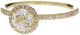 Meira T 14K Yellow Gold White Topaz & Diamond Ring - Size 8 - 0.18 ctw