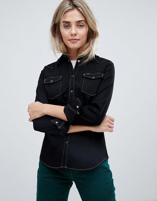 Lee western denim shirt with contrast stitching