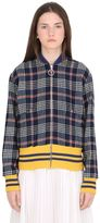 Gucci Plaid Wool Bomber W/ Embroidered Patches