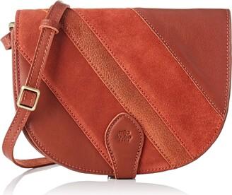 Mila Louise Womens 3266GCV Cross-body Bag Orange Orange (PAPRIKA 59)