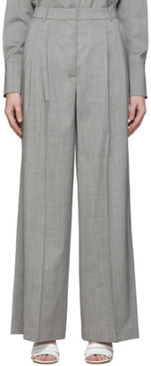 Joseph Grey Tropical Wool New Laurent Trousers