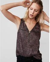 Express dotted zip front tank