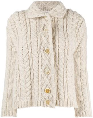 Maison Margiela Chunky Cable Knit Cardigan