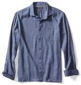 Banana Republic Camden-fit Textured Blue Shirt