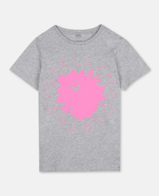 Stella Mccartney Kids Stella McCartney logo flower cotton t-shirt